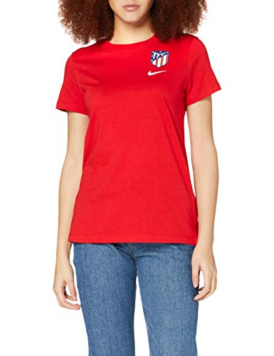 NIKE ATM W NK tee Evergreen Crest T-Shirt, Mujer, Sport Red, S