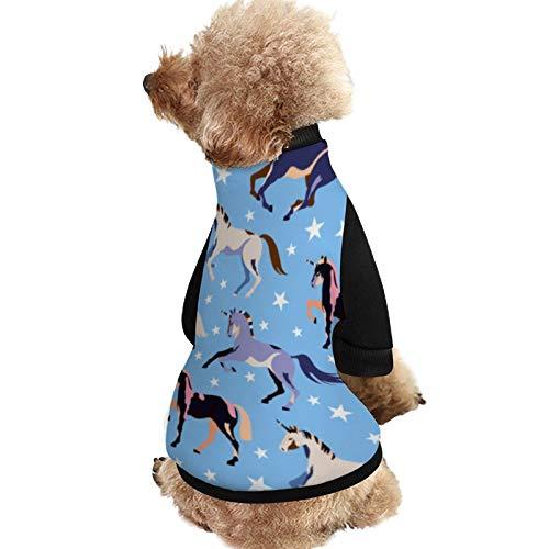 Lplpol XSA159 Hunde-Shirt, Einhorn, weich mit Hunde- und Welpenmäntel