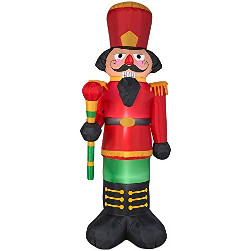 Gemmy Airblown Inflatables 15387 Airblown Red Nutcracker Christmas Inflatable