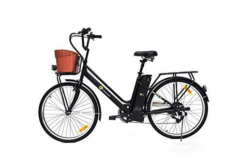 E-Trends Unisex's City E-Bike, Black, One siz