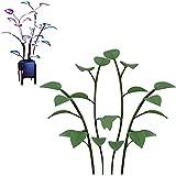 Lybring Plantas artificiales con luz LED, lámpara de plástico de la planta falsa para la decoración del hogar dormitorio interior al aire libre 100 cápsulas