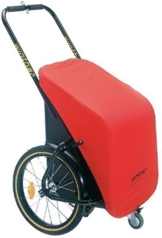 Donkey Classic rot - der praktische Anhnger für`s Fahrrad (Stauraum  65 Liter  Zuladung  40 kg) von Winther ---- inkl. Pletscher-Kupplung