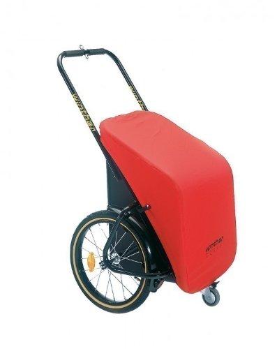 Unbekannt Winther Donkey Classic rot - der praktische Anhänger für`s Fahrrad (Stauraum: 65 Liter/Zuladung: 40 kg) / inkl. Weber-M-Kupplung (für eBikes)