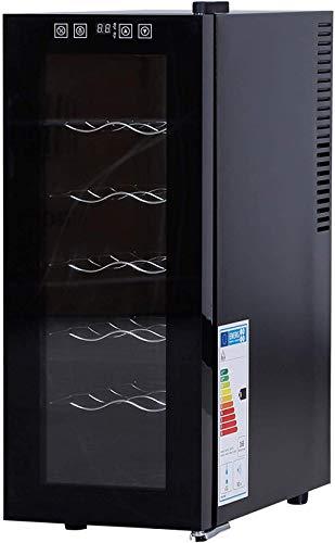Vinoteca de nivel 6, frigorífico monozona independiente y vinoteca con 12 botellas de minifrigorífico 11-18 ° C 26 x 49 x 65cm