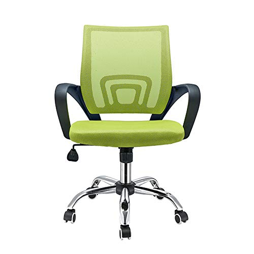 Panana Ergonomic Office Chair, Computer Desk Chair Executive Office Mid-Back Chair Mesh Upholstered Seat Swivel Task Chair (Green)