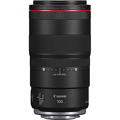 Canon Objektiv RF 100mm F2.8 L Macro IS USM Makroobjektiv für EOS R5 / R6 / R / RP (1,4 x Vergrößerung, 5 Stufen optischer Bildstabilisator, Dual Nano USM AF, Super Spectra Vergütung) schwarz