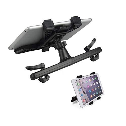 GNXTNX Soporte Ajustable Reposacabezas Automóvil,Soporte Reposacabezas para Tableta Compatible Teléfonos Inteligentes/Tabletas/Interruptor de 7'-10',Postes de Reposacabezas Ancho 5.5In-9.5In (Negro)
