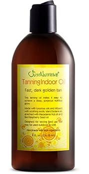 Tanning Indoor Oil   Moisturizing Body Oil   Sun kiss Glow   Body Tanning Oil   Natural Body Serum   Just Nutritive   8 Oz