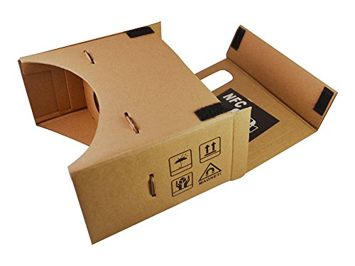 Google Cardboard (Large Version) 45mm Focal Length Virtual Reality Headset - With Free NFC Tag & Headstrap