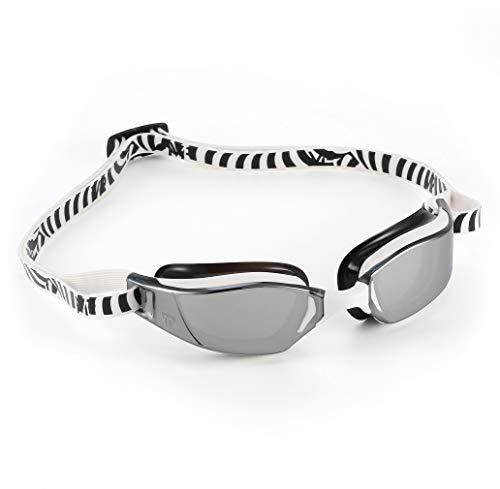 Aquasphere XCEED - Occhialini da nuoto unisex, colore: Bianco e Nero/Argento