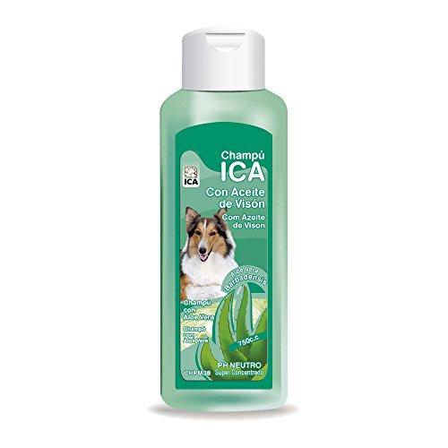 ICA CHPM38 Champú de Aceite Visón con Aloe Vera para Perros