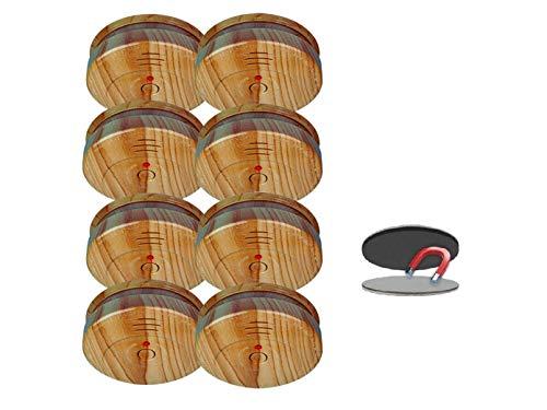 8er SET Rauchmelder in Holzoptik mit 5 Jahres Batterie & EASY Magnetbefestigung