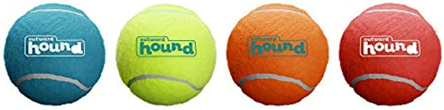 Outward Hound Squeaker Ballz Squeaky Tennis Ball Dog Toys, XS, 4 Pack