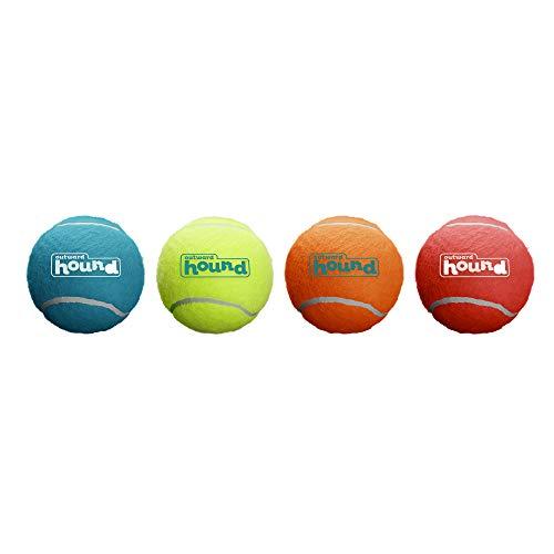 Outward Hound Squeaker Ballz Fetch Dog Toy, XS – 4 Pack