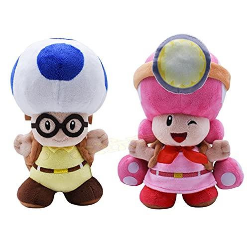 Mario Plush 2 unids/lote Anime Plush Juguetes Super Mario School Bag Toadette Niños y Niñas Peluche Peluche Muñeca Regalo