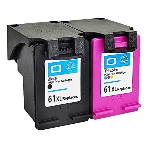 RICR Cartuchos De Tinta Remanufacturados De 61xl para Reemplazo para HP61XL, Compatible para HP DeskJet 1000 1050 2000 2050 Impresora De Máquinas Todo En Uno Set