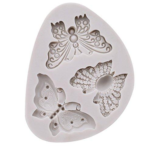 ODN 3D Silikonform 3er Schmetterling Form Kuchen Handgemachte Seife Silikonform DIY Deko Fondant Torten