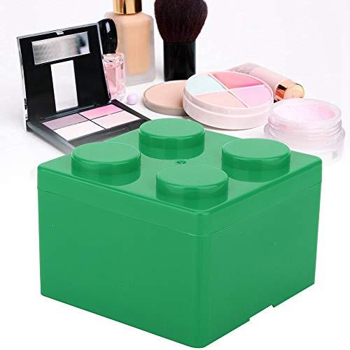 Make-up tools, duurzaam houden je cosmetica op orde. Organizer voor lippenstift, nagellak, make-up producten en andere kleine Vierkant groen