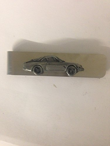Price comparison product image Renault Alpine A110 ref209 Pewter Effect Emblem on a Stainless Steel Money Clip