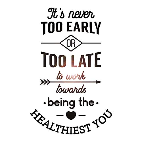 Large Vinyl Wall Decal Healthy Quote Saying Inspire Health Medical Office Decor Stickers Mural (Ig5602)