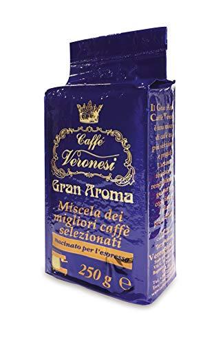 Caffé Veronesi - Gran Aroma Espresso 2x 250g || Original Italienischer Caffé für Espresso|| Kaffee gemahlen