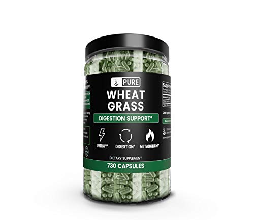 Wheat Grass Capsules 730 Capsules (900 mg/Serving), Digestion, Energy, 8 Month Supply