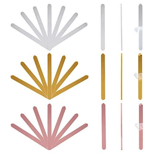 AHANDMAKER Palitos de Acrílico Reutilizables para Pasteles, 3 Juego de Colores de 30 palitos de Paleta de Espejo Acrílico para Molde de Pastel de Helado DIY, 4.5 x 0.4 Pulgada