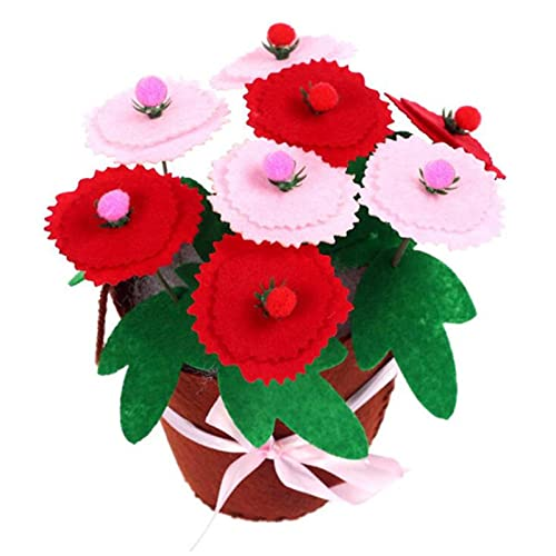 Felt Diy Crafts Kids Diy Flower Pot Potted Plant Kindergarden Learning Education Toys Teaching Aids Toy Crafts And Sewing,F