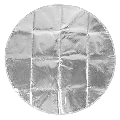 BHDK Alfombrilla Circular para Barbacoa al Aire Libre, Resistente a Altas temperaturas, portátil, de 36 Pulgadas, Ligera, Redonda, para Barbacoa, para hornos microondas