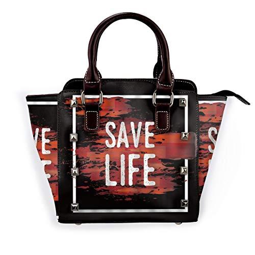 BROWCIN Rette das Leben auf gruseligem Blut Halloween Weird Bloodstain Horror Featured Print Abnehmbare mode trend damen handtasche umhängetasche umhängetasche