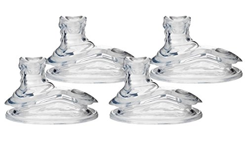 Nuby (2 Packs), 4 Count Super Spout No Spill Replacement Spouts, Clear