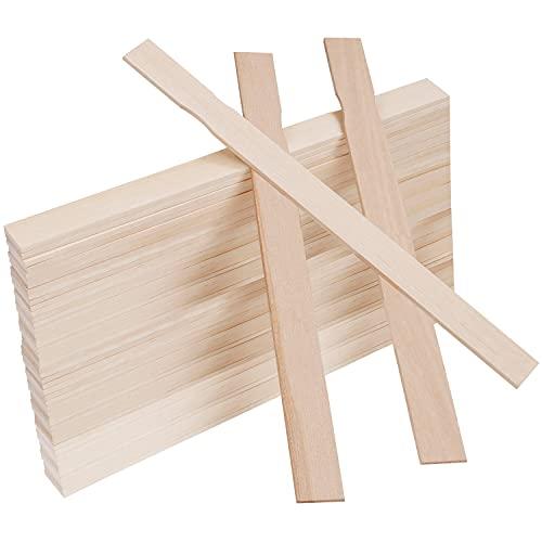 BELLE VOUS Rührstäbchen Holz (50 STK) – L30 x B2,4 cm Spatel Holz Holzstäbchen Rührstab Holz für Epoxidharz Farbe & Silikon – Holzspatel zum Basteln, Lesezeichen, Garten, Hochzeit, Spatel Kosmetik