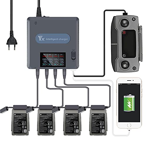6-in-1 Caricabatterie, Digitale Display Caricatore per DJI Mavic 2 Drone In carica Accessori