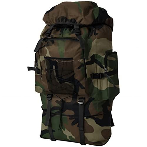 VidaXL Mochila Militar XXL 100 Camuflaje