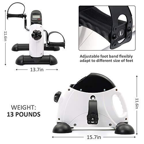DECELI Under Desk Bike Pedal Exerciser - Portable Mini Exercise Bike