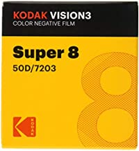 Super 8 Kodak VISION3 50D/7203 Color Negative Film, SP464 Cartridge, 50' Roll