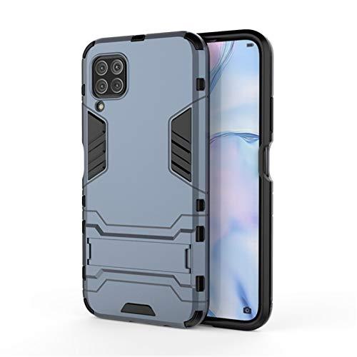 HHF Teléfono móvil Accesorios para Huawei Nova 6 SE, Caucho Suave + Caja de asisto de plástico para Huawei Nova 6 SE JNY-AL10 JNY-TL10 6.4' (Color : Navyblue, Material : For Nova 6 5G)