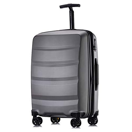 GNNHY Single Rod Rits koffer Universele Wiel Frosted Trolley Case Student koffer Extensible Business Boarding Bagage 20 Inch / 24 Inch Twee Maten