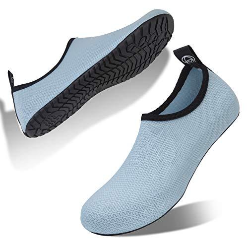 Buty kąpielowe, damskie, męskie, buty plażowe, buty na bose nogi, buty do wody, buty do pływania, - jasnoniebieski Bl - 48/49 EU