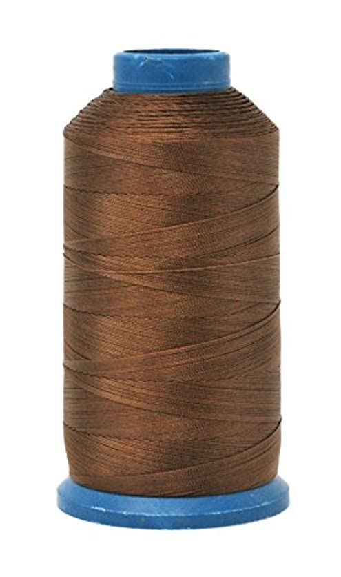 Mandala Crafts Bonded Nylon Thread for Sewing Leather, Upholstery, Jeans and Weaving Hair; Heavy-Duty; 1500 Yards Size 69 T70 (Russet Brown) yxhg72036