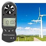 Jeanoko Anemómetro Herramienta de medición de Volumen de Aire Funcional múltiple Termómetro Probador de Velocidad Medidor de Velocidad del Viento Medidor de Flujo de Aire para Oficina para
