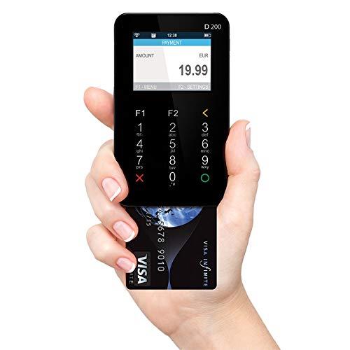 MyPOS Mini (Black) sin papel Chip y PIN Lector de tarjetas de crédito con batería de larga duración, tarjeta de datos para conexión a Internet constante y constante para pagos sin contacto