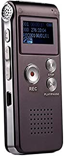 CattleBie 8GB Voice Recorder USB Professional Dictaphone Digital Audio With WAV MP3 Player VAR Function Record (Color : Pu...