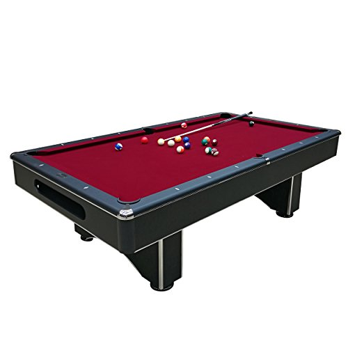 Harvil Galaxy Slate Pool Table 8-Foot with Red Felt Includes On-Site Delivery, Professional Installation and Accessories