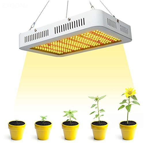 ADGH Led Grow Light 1000W Plant Grow Light con 350 Piezas Epistar Chip Ventilador UV/IR De Espectro Completo para Plantas Hidropónicas De Interior