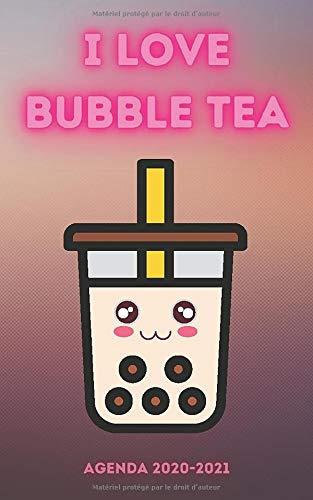 Agenda Bubble tea: Agenda 2020 2021 style asiatique, journalier parfait pour la rentrée scolaire, cadeau pour étudiant, adulte, collégien, primaire, ... 2020 à Juillet 2021 | 12,7 x 20,32 cm
