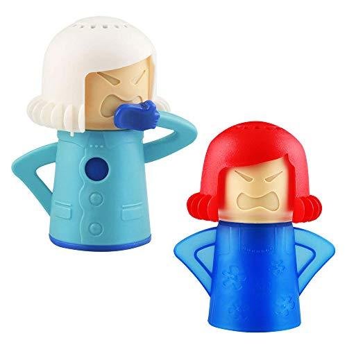 TANCUDER 2 Stücke Angry Mama Mikrowelle Dampfreinige, wütend Mama Mikrowelle schnelle Aktion Dampfreiniger, Gesunde Küche Cleanser Werkzeug mit Essig und Wasser
