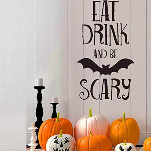 Axlgw Muursticker Woonkamer Slaapkamer Achtergrond Leuke Halloween Letters Muursticker Raam Huisdecoratie Decor