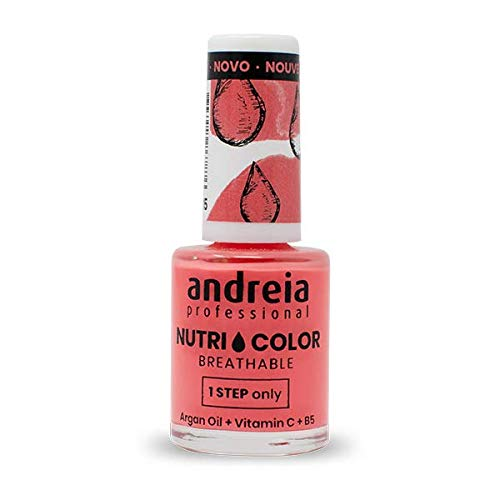 Andreia Professional NutriColor - ademende veganistische nagellak - NC15 oranje 10,5 ml