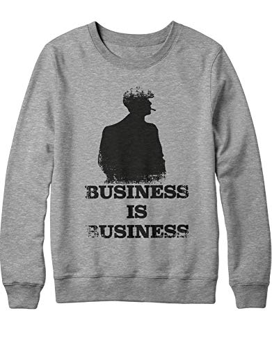 HYPSHRT Herren Sweatshirt P. Blinder's Business is Business C1000027 Grau M